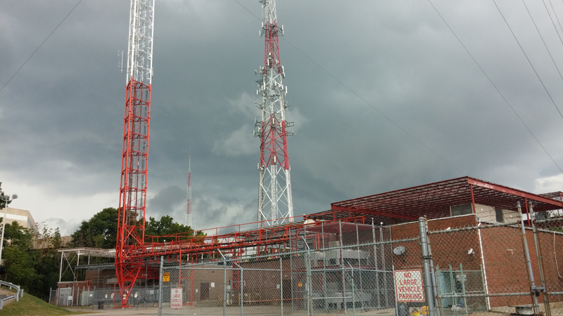Storm Clouds at the transmitter in Needham.
