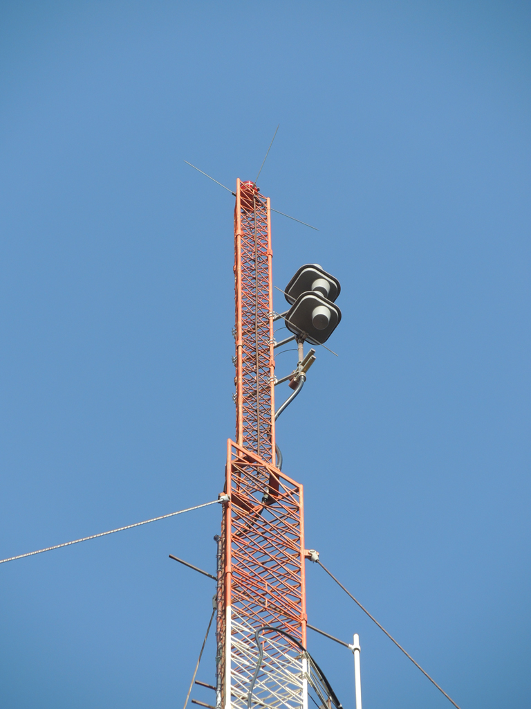 WCIB's new 2 bay Shively 6810-2R-SS-DA antenna in Falmouth.
