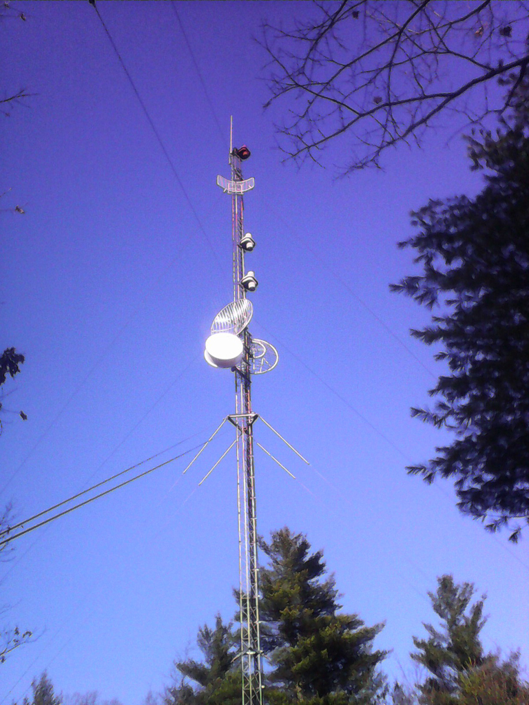 WJYY's main and backup antennas on this tower in Concord, NH