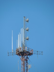 WBRU's new backup antenna on Peck Hill in Johnston