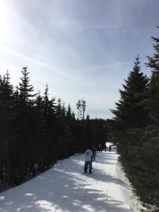 Looking up Mt Snow towards WTHK