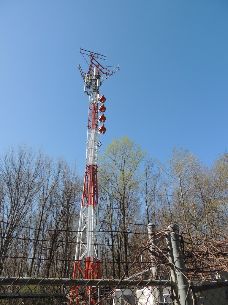 WXCI's short tower and big Shively antenna!