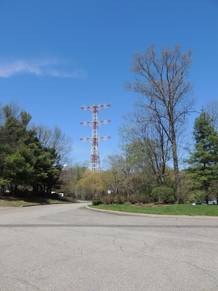 A wide shot of the famous and historic Armstrong tower.