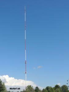 WYPX's tower, serving Albany and this area. WEXT 97.7 is side mounted near the top