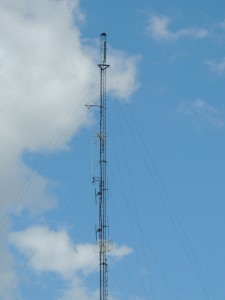 The West Bush tower with WFNY-CD, W231CF, and WNGG all side mounted.