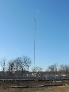 WLLH's soon to be former primary with the 95.1 translator mounted to it.