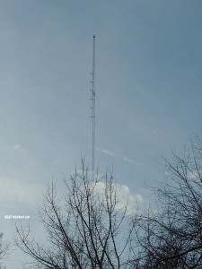 100.1 on the 1490 tower, even though it simulcasts 1270. The tower on the island!