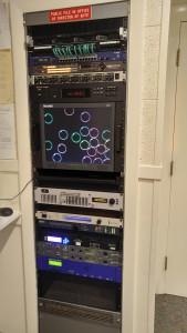 WGAO's tech racks.